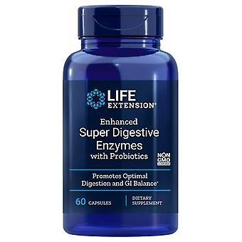 Life Extension Enhanced Super Digestive Enzymes with Probiotics, 60 Veg Caps