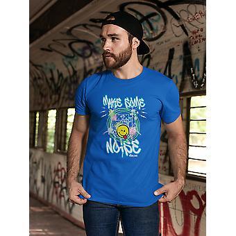 SmileyWorld Graffiti Make Some Noise Men's T-shirt