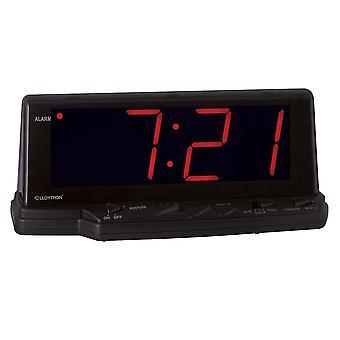 Lloytron Prelude 1.8 Inch Jumbo Red Led Alarm Clock Black (Model No. J102)