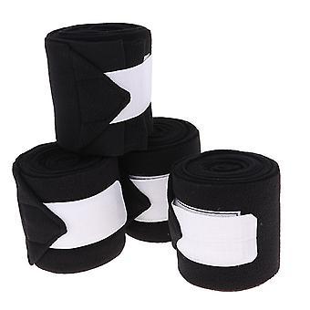 Durable Soft Fleece Equestrian Leg Wraps, Bandage For Horse Riding