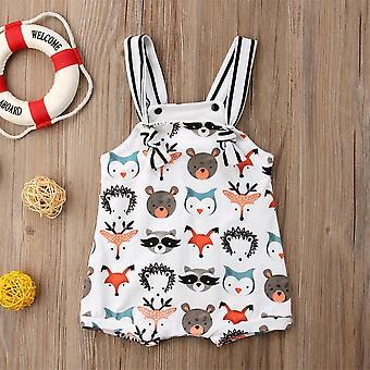 Summer Newborn Baby / Strappy Romper, Jumpsuit / Bodysuit Sleeveless Clothes