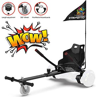 CitySport HoverKart for All Size Hoverboards with Flag-Black