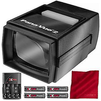 Pana-vue 6562 bildvisnings #2 med transformator + batteri & laddare kit deluxe bunt ps40307