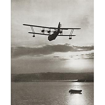 An Imperial Airlines Scipio Class Flying Boat C1931 From The Story Of 25 Eventful Years In Pictures Published 1935 PosterPrint