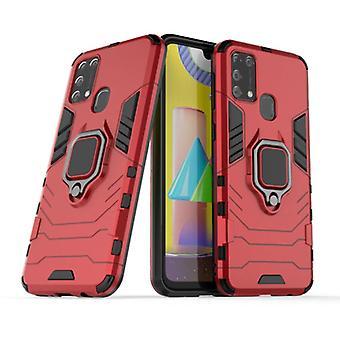Keysion Samsung Galaxy A71 -kotelo - magneettinen iskunkestävä kotelon kansi cas TPU punainen + jalusta