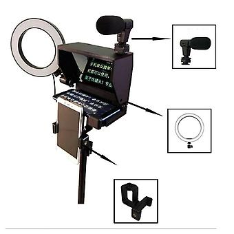 Portable Smartphone Teleprompter With Remote Control For News/live Interview