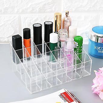 Cuadrícula Múltiple, Acrílico, Caja Organizadora de Maquillaje Transparente