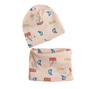 Nouveau automne hiver coton chapeau bébé chapeau ensembles crochet foulard foulard enfant cap