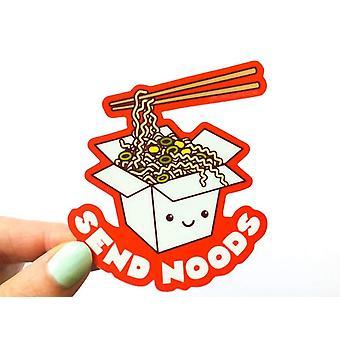 Funny Ramen Noodles Cheeky Rude Vinyl Sticker Send Noods