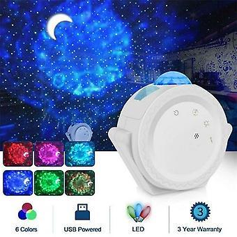 Estrellado Sky Proyector Luz 360 Grados Rotación 6 Colores Lámpara de Noche