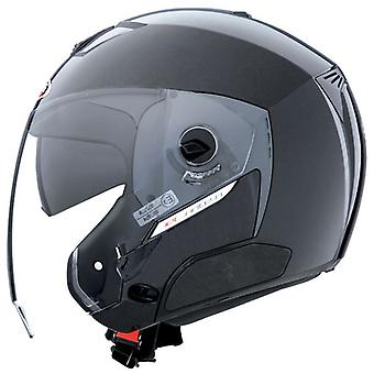Caberg Jet Sintesi Metal Black Gloss Helmet Bluetooth Ready Double Visor ACU Approved