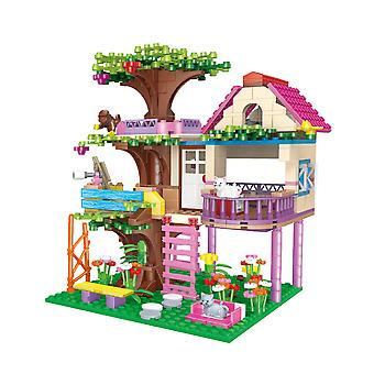 Building block toys for girls 560 jungle tree house sets educational toys for parent-child interaction