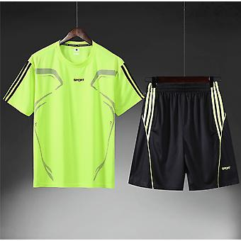 Sports Suit Men's Short-sleeved T-shirt Running Fitness Casual Clothes Two-piece Summer Shorts Quick-drying Sportswear