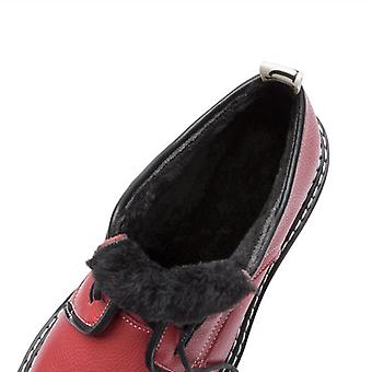 Retro Women Shoes Genuine Leather