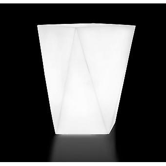Blumentopf - mit Beleuchtung - wasserdicht - weiß