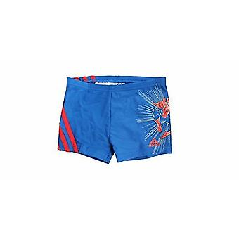 Adidas Disney Marvel Blue Red Kids Lycra Spiderman Swimming Shorts M64878 A7D