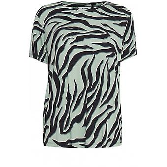 b.young T-Shirt Rillo Blue Zebra Print