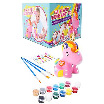 Girlzone: paint your own unicorn money box for girls, arts & crafts for kids, great birthday gift fo