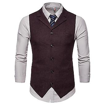 Vest Men Suit, Business Casual Waistcoat Formal Slim Waistcoat, Wedding