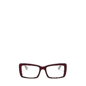 Miu Miu MU 03SV beige havana top bordeaux gafas femeninas de bordeaux
