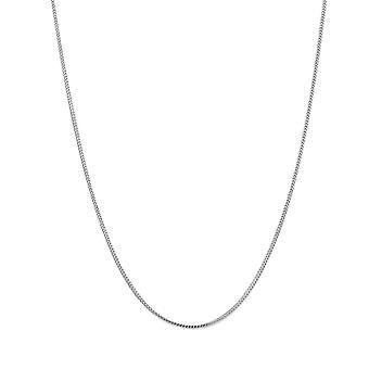 14 k vit Solid guld Franco kedja halsband, 1,2 mm