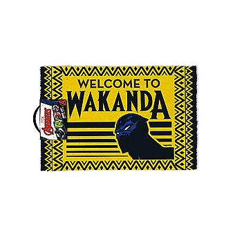 Black Panther Welcome to Wakanda Door Mat