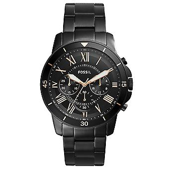 Fossil FS5374 Grant Sport Chronograph Black Stainless Steel Mens Watch