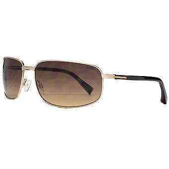 Suuna Rectangle Metal Wrap Sunglasses - Gold