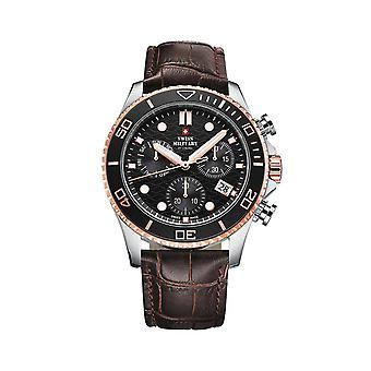Reloj masculino militar suizo por Chrono SM34051.05, cuarzo, 46 mm, 10ATM