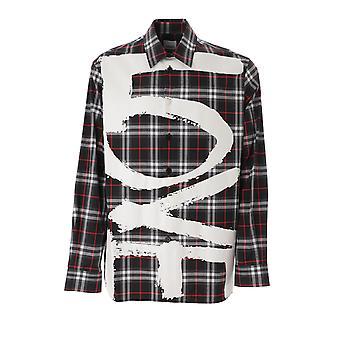 Burberry 8037862a1003 Men's Zwart Katoenen Shirt