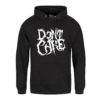 Grindstore Mens Do Not Care Text Hoodie
