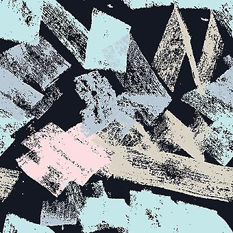 Alfombra con estampado Multicolor Fine Touches en Poliéster, Algodón, L80xP120 cm
