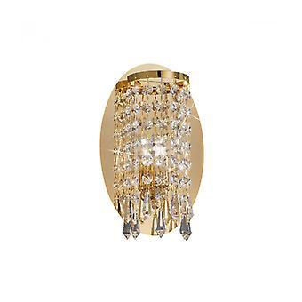 Charleston Aplique De Diseño De Cristal Oro De 24 Quilates 1 Bombilla