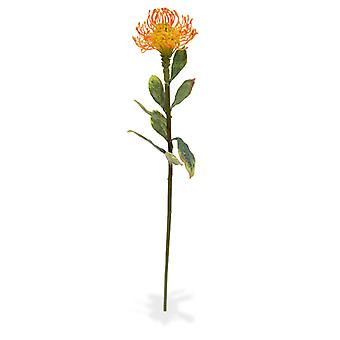 Ramo Leucadendron artificial 60 cm laranja