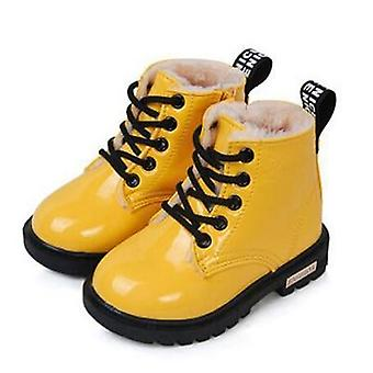 Pu Leather Waterproof Winter Kids Snow Shoes, Boots