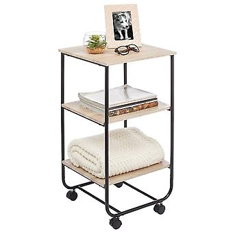 mDesign 3-Tier Rolling Household Storage Cart mit 4 Caster Wheels Marmor
