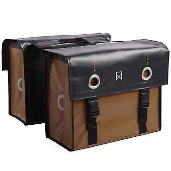 Willex bicycle bags Tarpaulin 52 L Matt black and matt brown