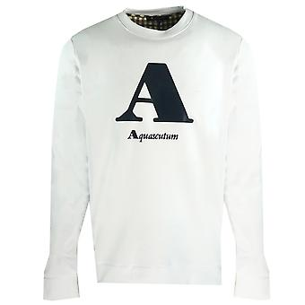 "Aquascutum ""A"" Logo White Sweatshirt"