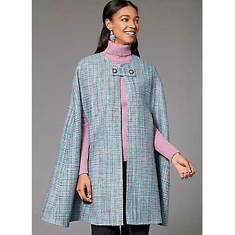 Kwik Sew Sewing Pattern 4224 Misses Capes Button Closure Size XS-XL Uncut New