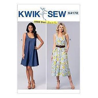 Kwik Sew Sewing Pattern 4172 Misses Dress Size XS-XL