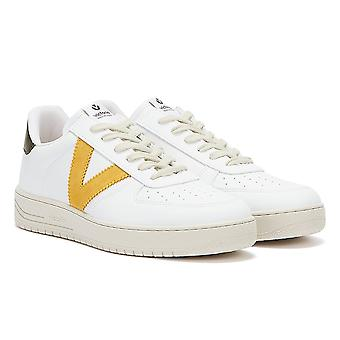 Victoria Siempre Contrast Vegan Womens White / Yellow Trainers