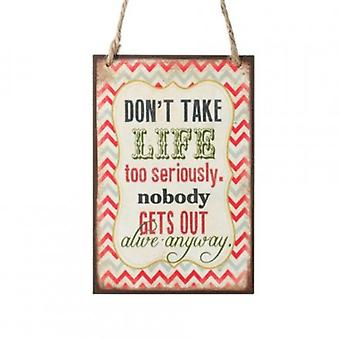 Too Seriously Hanging Wooden Plaque By Heaven Sends