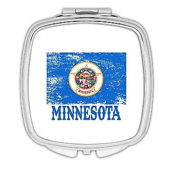 Gift Compact Mirror: Minnesota Flag