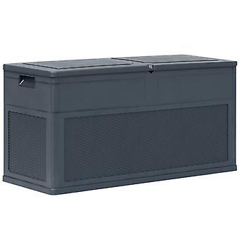 vidaXL Puutarha Säilytyslaatikko 320 L Antrasiitti