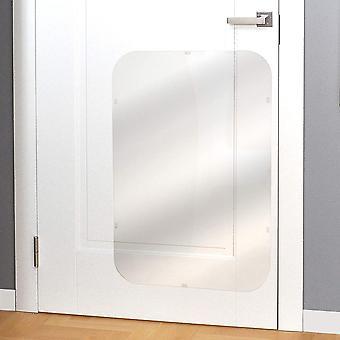Door Scratch Protector Premium Dog Door Cover for Interior & Exterior Use - Clear (35.5 x 24)