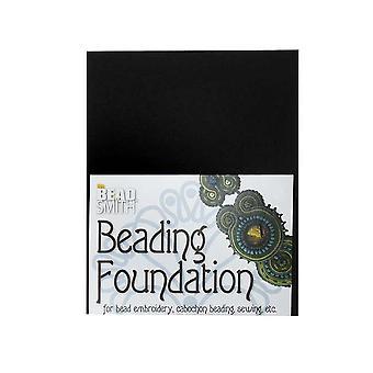 مؤسسة Beadsmith Beadsmith للخرز - لأعمال التطريز - أسود 5.5x4.25 بوصة، ورقة واحدة