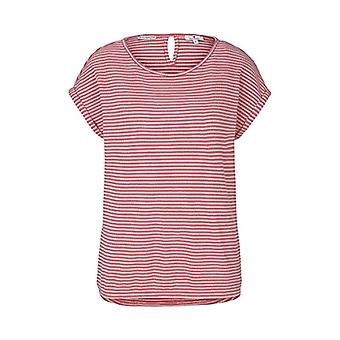 Tom Tailor 1024037 Striped T-Shirt, 26044-Peach Navy Popcorn Structure, M Woman