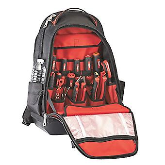 Milwaukee 48228200, backpack with 35 pockets, black red color
