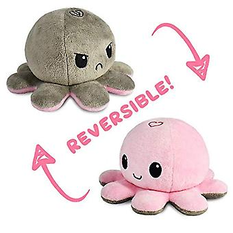 Reversible octopulushie black gray show your mood without saying a word pl-36