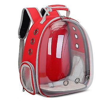 Rød katt bærer ryggsekk, plass kapsel ryggsekk kjæledyr reiseveske vanntett pustende az6306